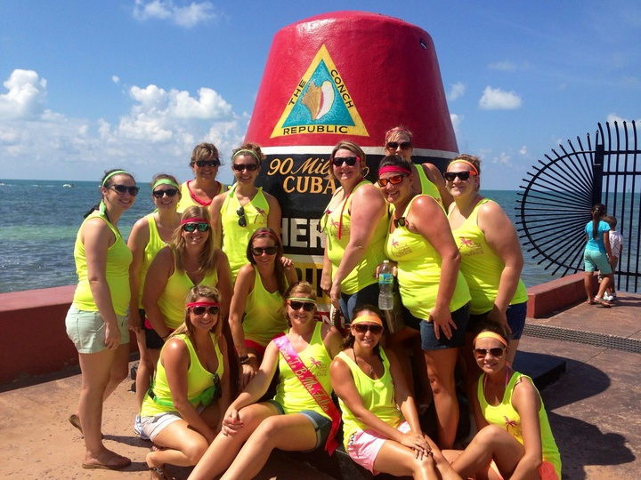 Bachelorette Neon Ninjas In Key West T-Shirt Photo