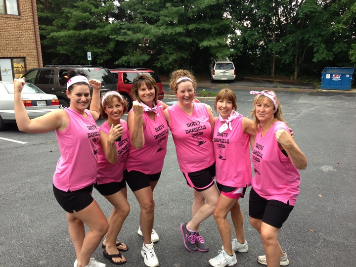 Dirty Damsels Dirty Girl Mud Run Team T-Shirt Photo
