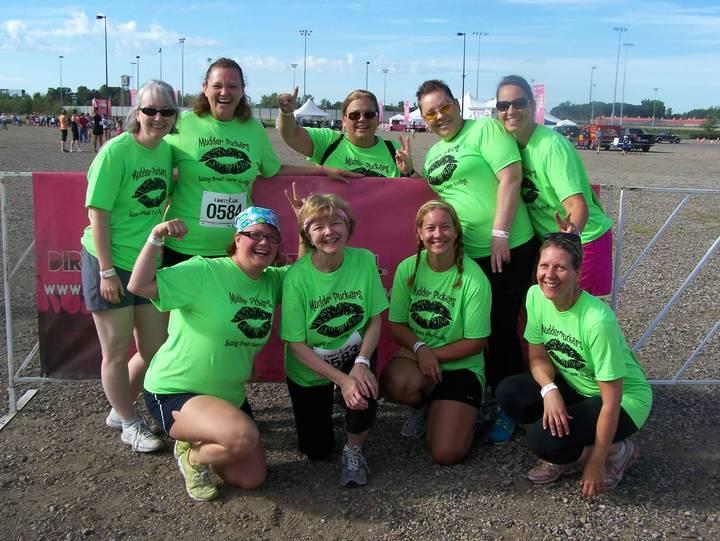 Mudder Puckers   Mud Run   Kissing Breast Cancer Goodbye! T-Shirt Photo