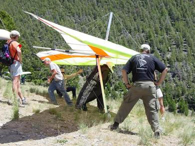 Launching Hang Gliders, King Mountain, Idaho T-Shirt Photo
