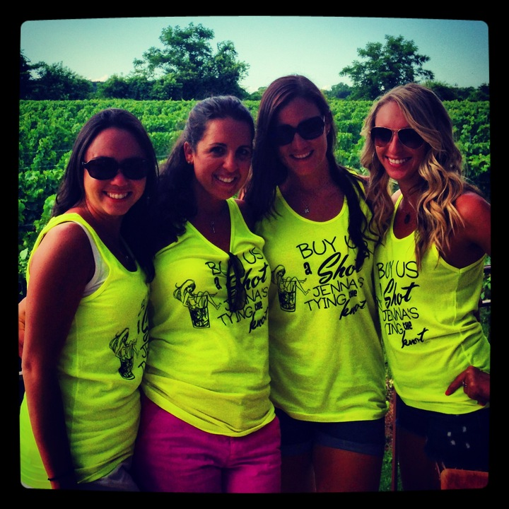 Bachelorette Party Goes To A Winery T-Shirt Photo