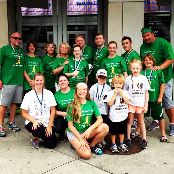 Team Rob/Bob After Running In Their Second Annual 5k T-Shirt Photo