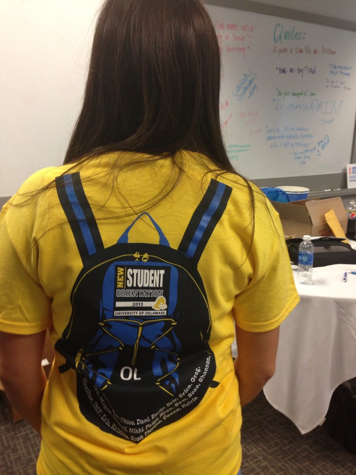 New Student Orientation At University Of Delaware T-Shirt Photo