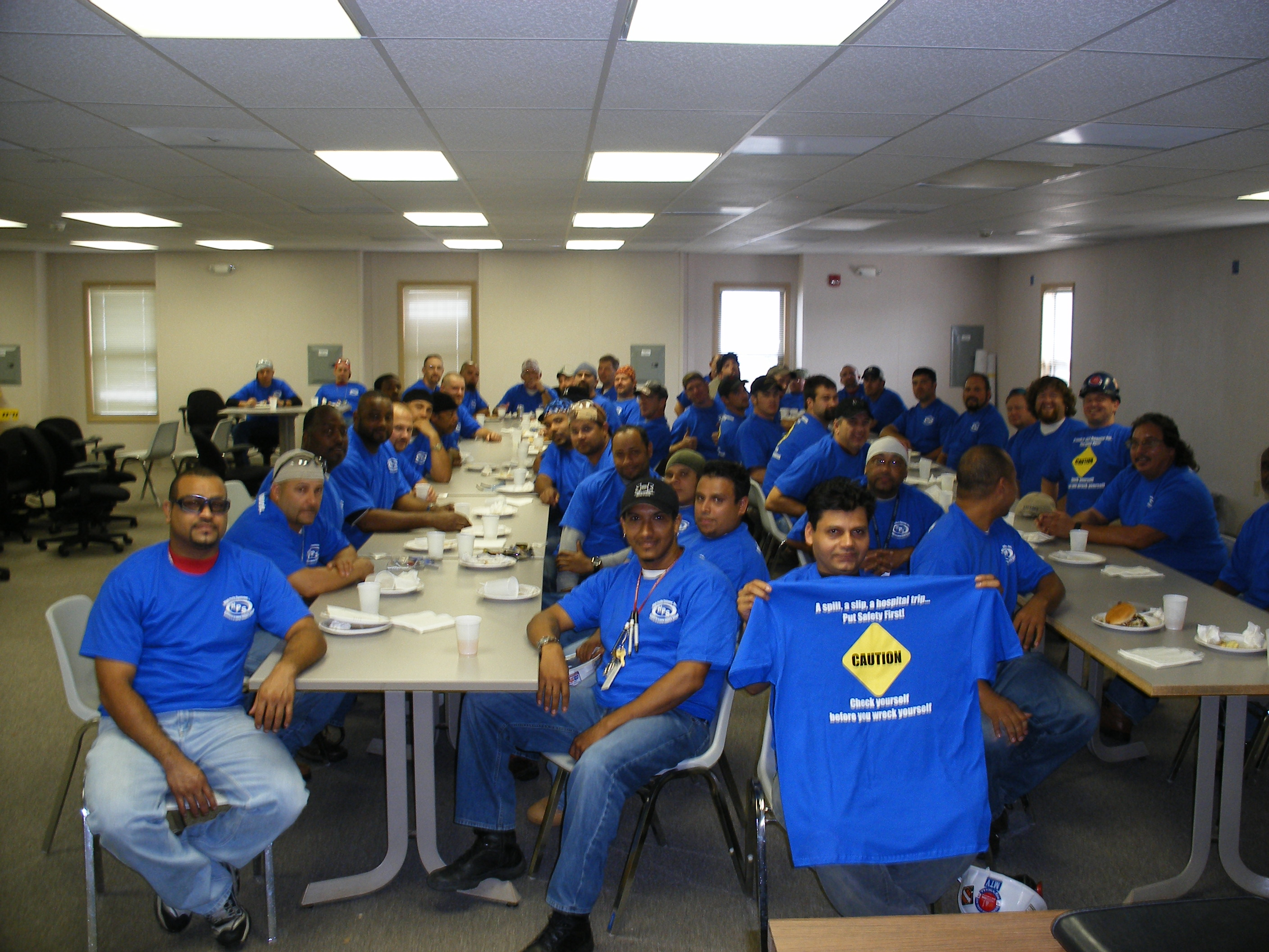 Custom t shirts for at hps safety is everyone 39 s business for Safety logo t shirts