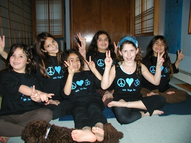 Yoga Kids, Peace, Love Custom Ink & Om T-Shirt Photo