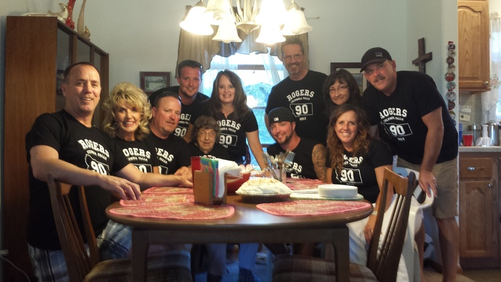 Great Grandmothers' 90th Birthday T-Shirt Photo