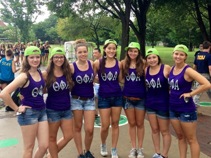 Theta Phi Alpha At Tcnj's Freshman Move In T-Shirt Photo