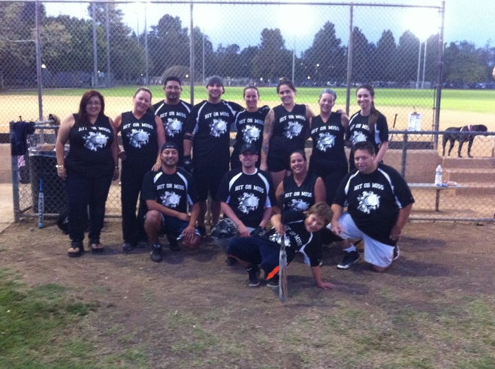 Hit Or Miss Softball Team T-Shirt Photo