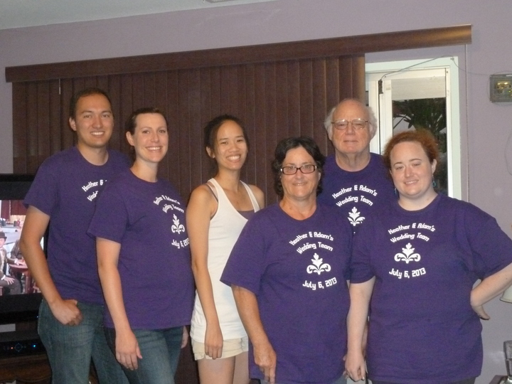 Heather & Adam's Wedding Team 7/6/13 T-Shirt Photo