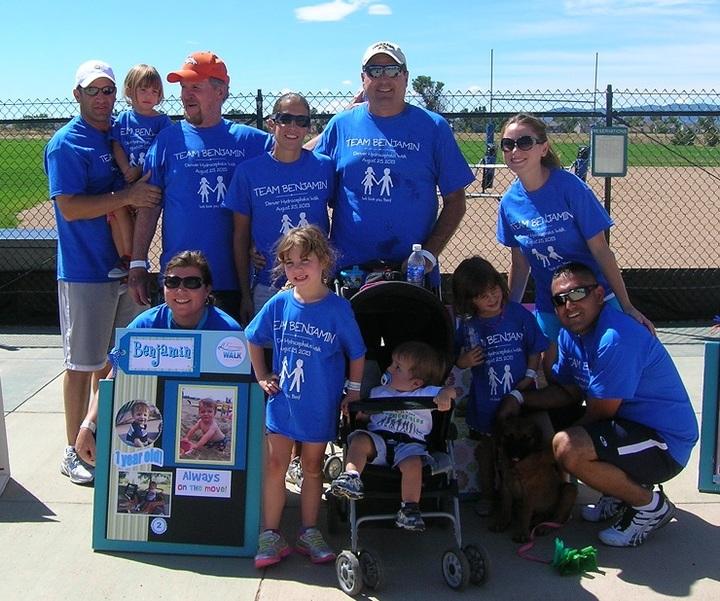 Team Benjamin Rocks The Blue Shirts! T-Shirt Photo