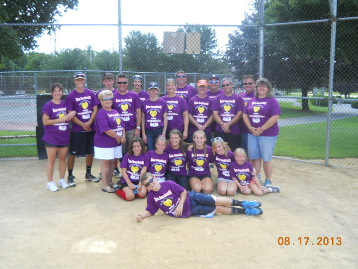 Family Softball Game In Memory Of Pop Pop T-Shirt Photo