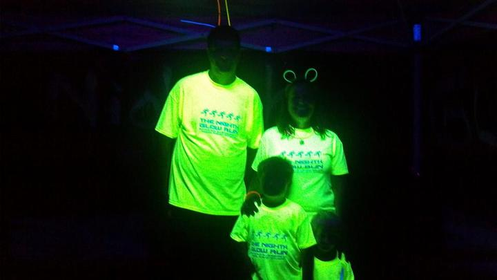 Blacklight Fun With Our Shirts T-Shirt Photo