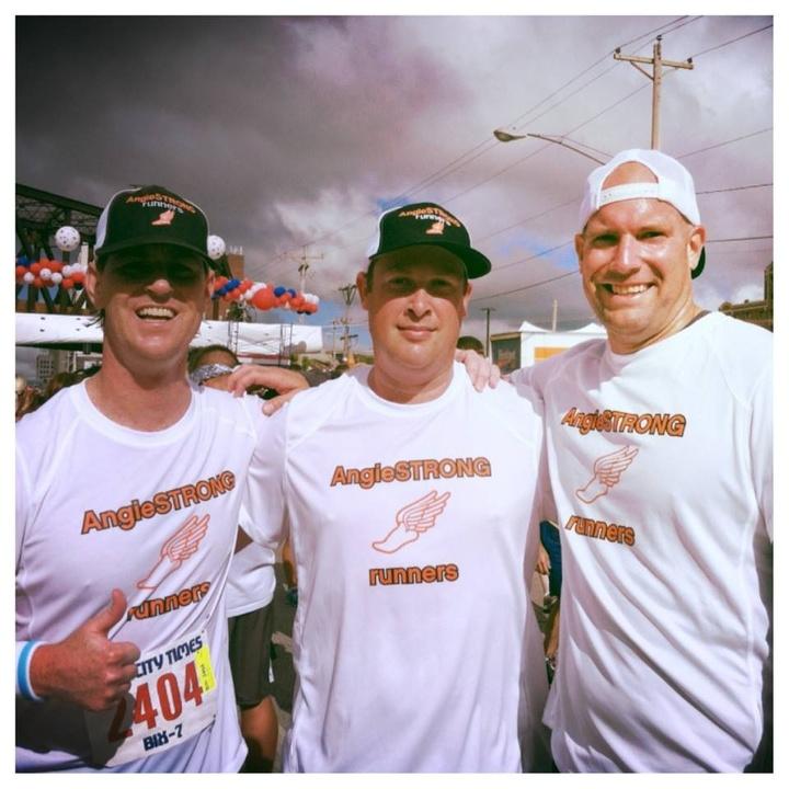 Bix 7 Race Angie Strong Runners T-Shirt Photo