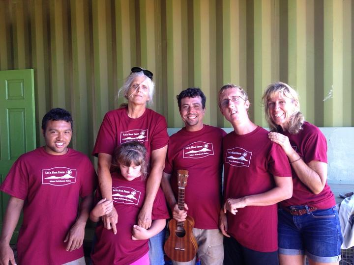 La'a Kea Wednesday Farm Crew Showing Off Their New Shirts T-Shirt Photo