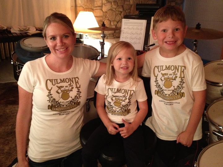 Happy Drum Students With Thier New Custom Ink T Shirts T-Shirt Photo