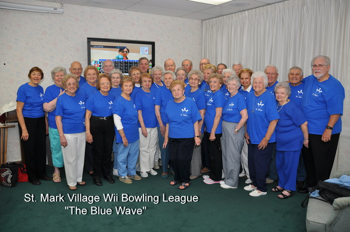 The Blue Wave Of St. Mark Village T-Shirt Photo