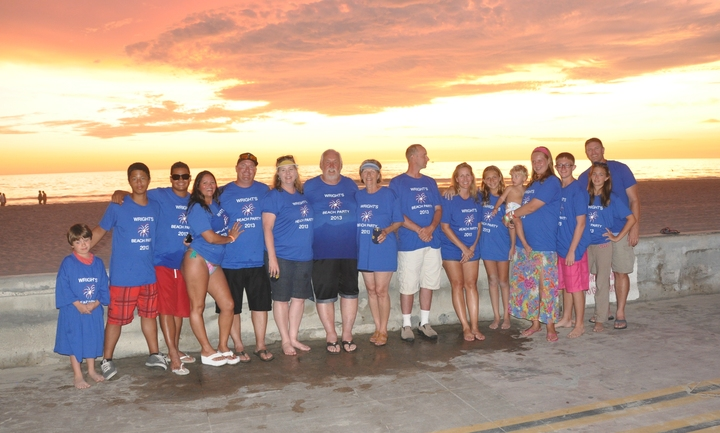 Wright Family Beach Party T-Shirt Photo