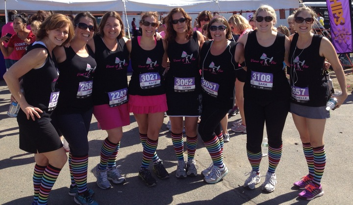 Vixens Of Vino At The Diva Dash T-Shirt Photo