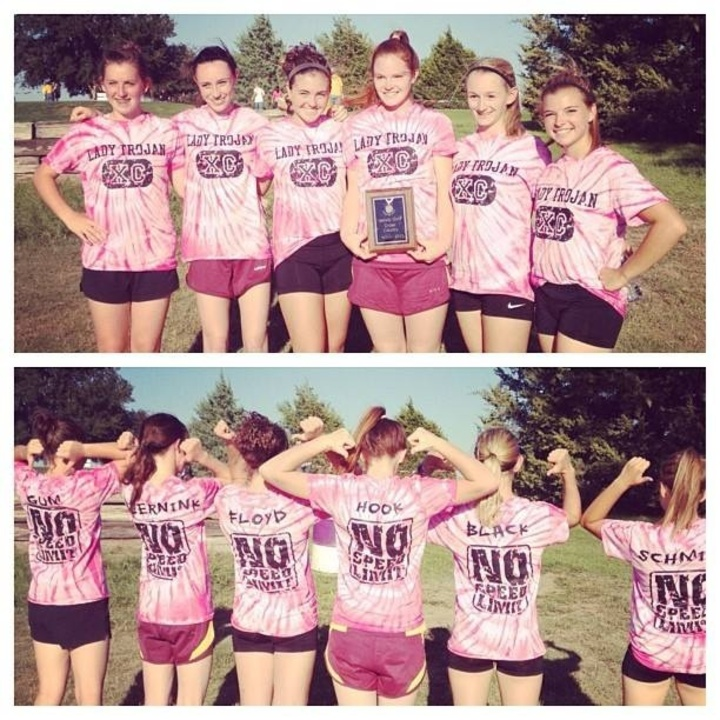 Varsity Girls Xc Team T-Shirt Photo
