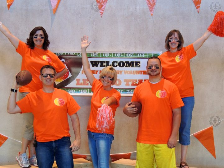 Orange Team In Orange Ts T-Shirt Photo
