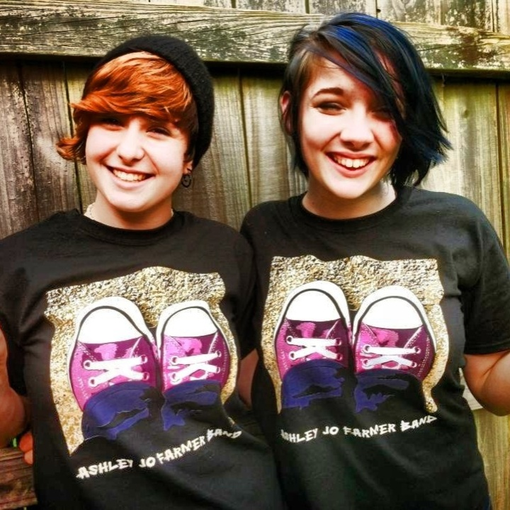 Sammie And Sarah Showing Off The New Band Tees! T-Shirt Photo