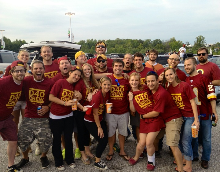 D40 Crew At Redskins Home Opener Tailgate! T-Shirt Photo