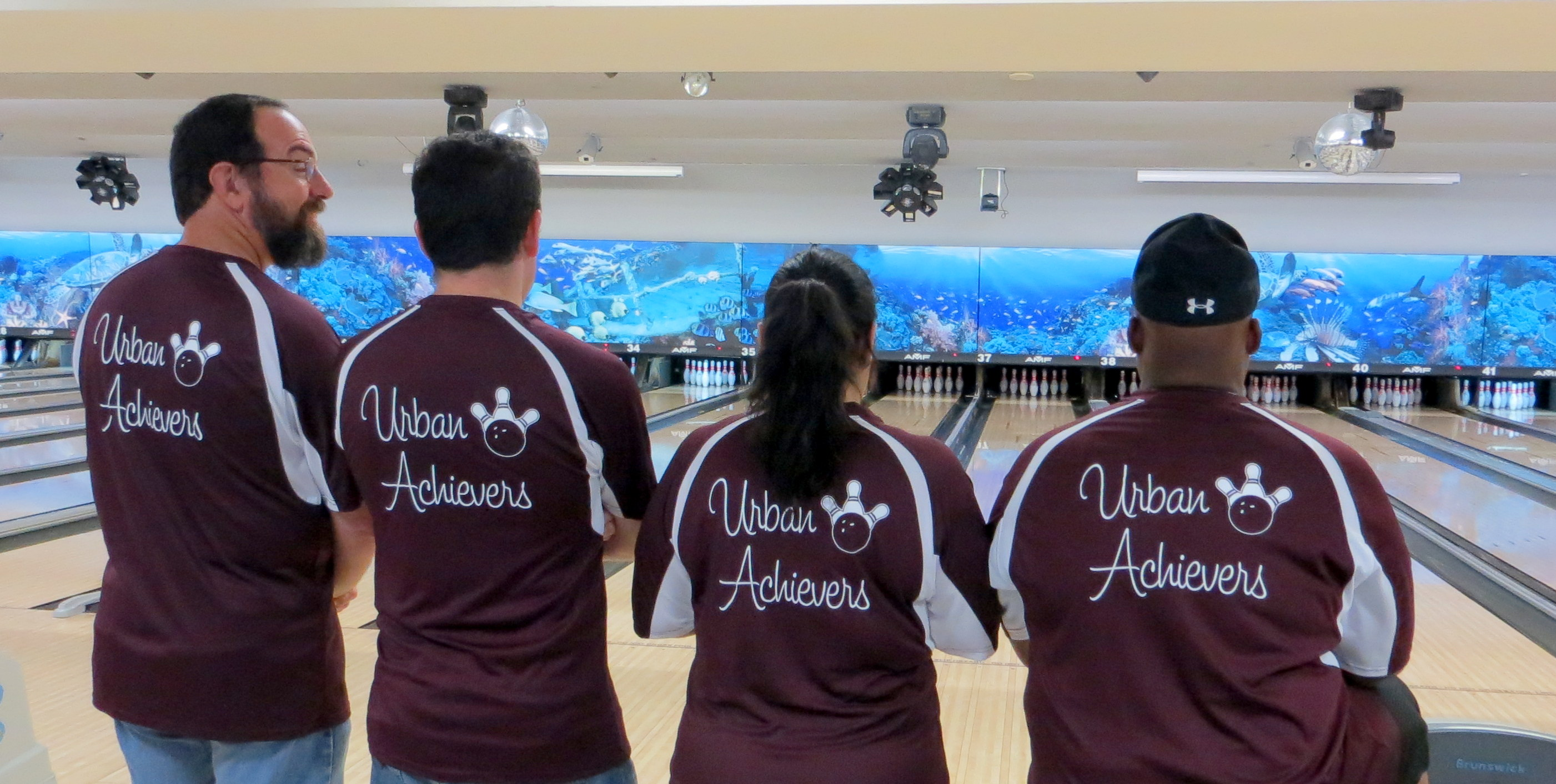 Custom T Shirts For The Urban Achievers Bowling Team Shirt Design