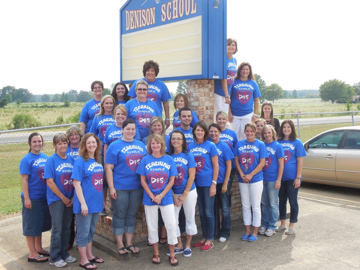 Sporting Our Shirts!  Love 'Em! T-Shirt Photo