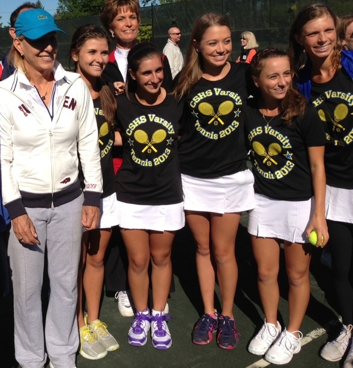 Sandburg Tennis Meets Martina Navratilova  T-Shirt Photo