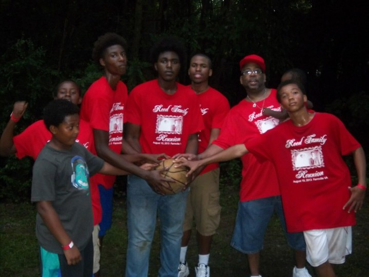 Reed Family Youth In Unity Basketball T-Shirt Photo