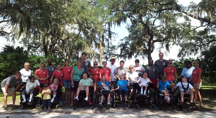 Group Shot: Lindsey's Place Camp Savannah, Ga T-Shirt Photo