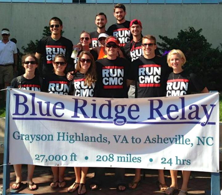The Run Cmc Team At The Finish Of The Blue Ridge Relay T-Shirt Photo