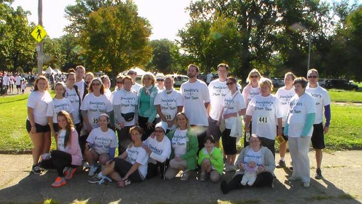 Danielle's Dream Team For The Break The Silence On Ovarian Cancer Walk T-Shirt Photo