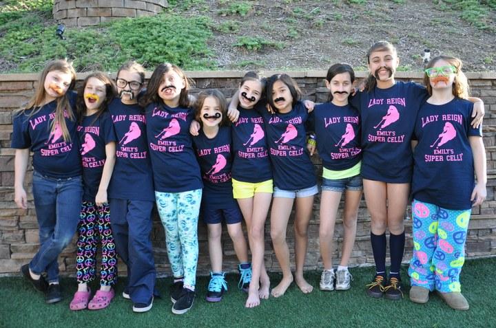 Lady Reign Girls Ice Hockey Rocks! T-Shirt Photo