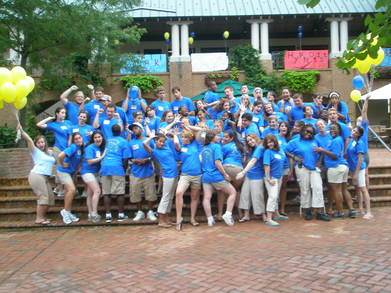 Smcm Orientation Leaders Strike A Pose T-Shirt Photo