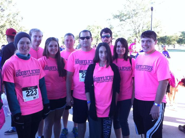 5k Race Against Breast Cancer T-Shirt Photo