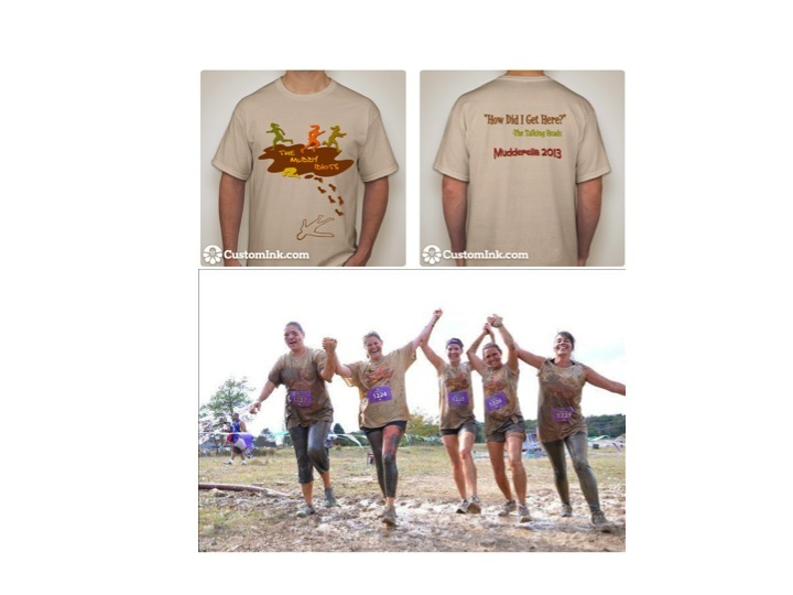 The Muddy Idiots Conquer Mudderella! T-Shirt Photo