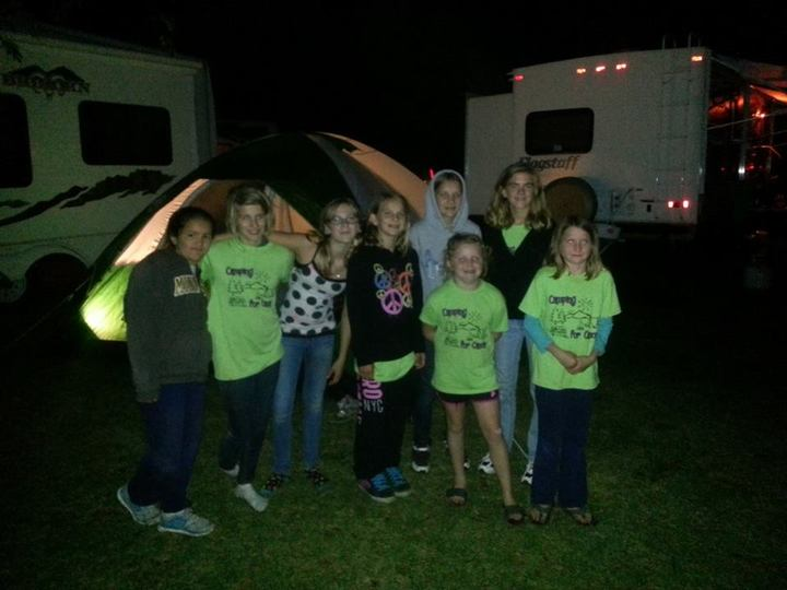 Kids Enjoying The Camping For Cancer Event T-Shirt Photo