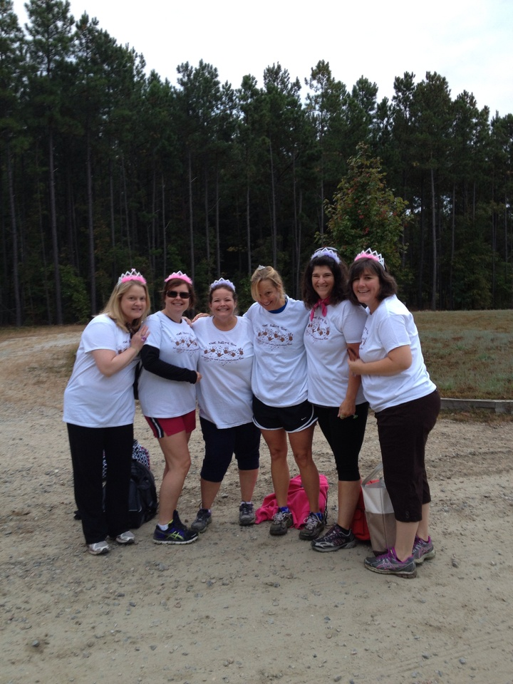 Before The Pretty Muddy 5k Started T-Shirt Photo