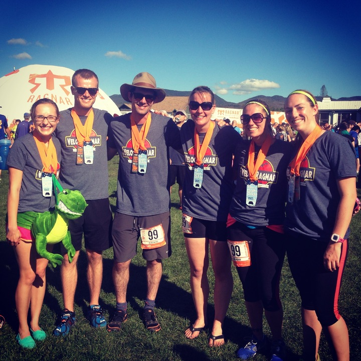 Dinosaurs Take On Ragnar Relay Adirondacks! T-Shirt Photo