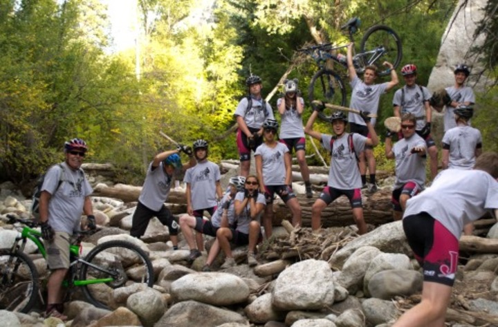 Jordan Hs Mountain Bike Team Loves Their T Shirts. T-Shirt Photo