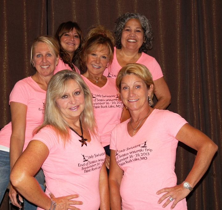 Lady Waterskiers End Of Season Trip  T-Shirt Photo