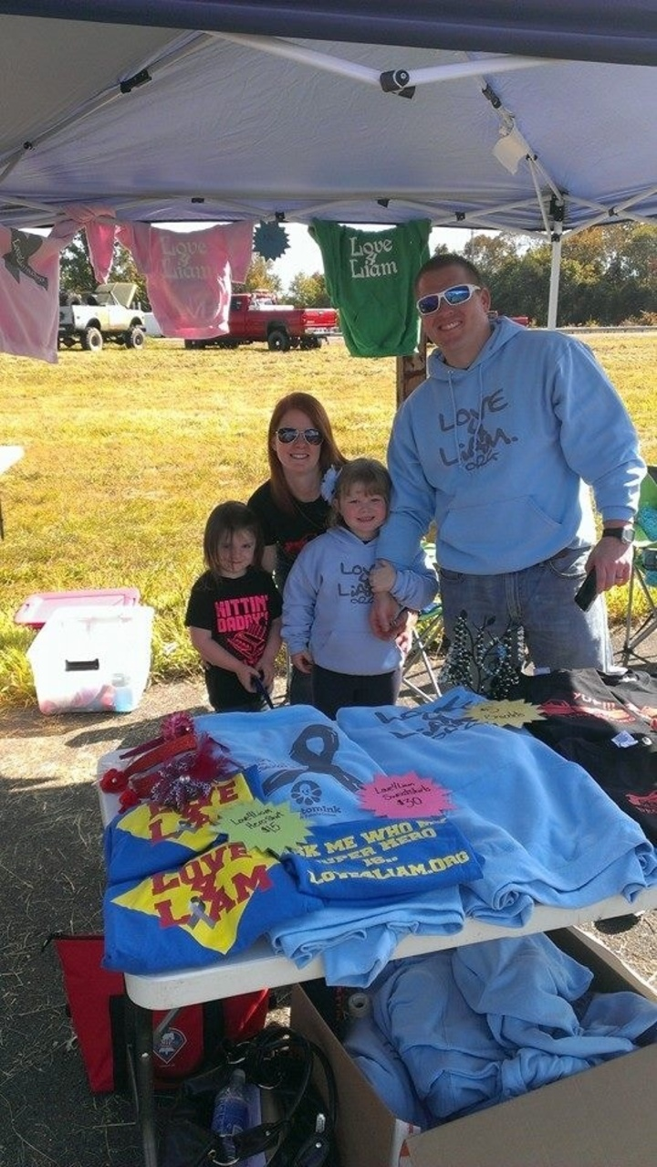 Out Raising Funds And Awarness! T-Shirt Photo