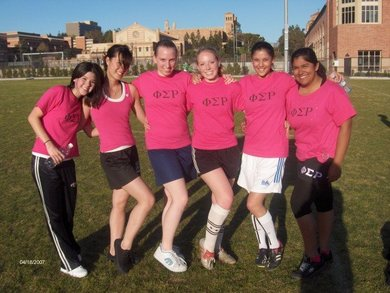 Phi Rho Soccer Team Kickin Some Butt At Im Soccer! T-Shirt Photo