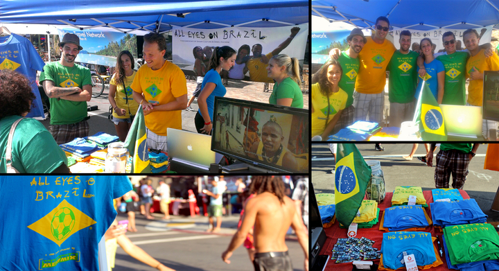 The All Eyes On Brazil Team During The 2013 San Diego Brazilian Day T-Shirt Photo