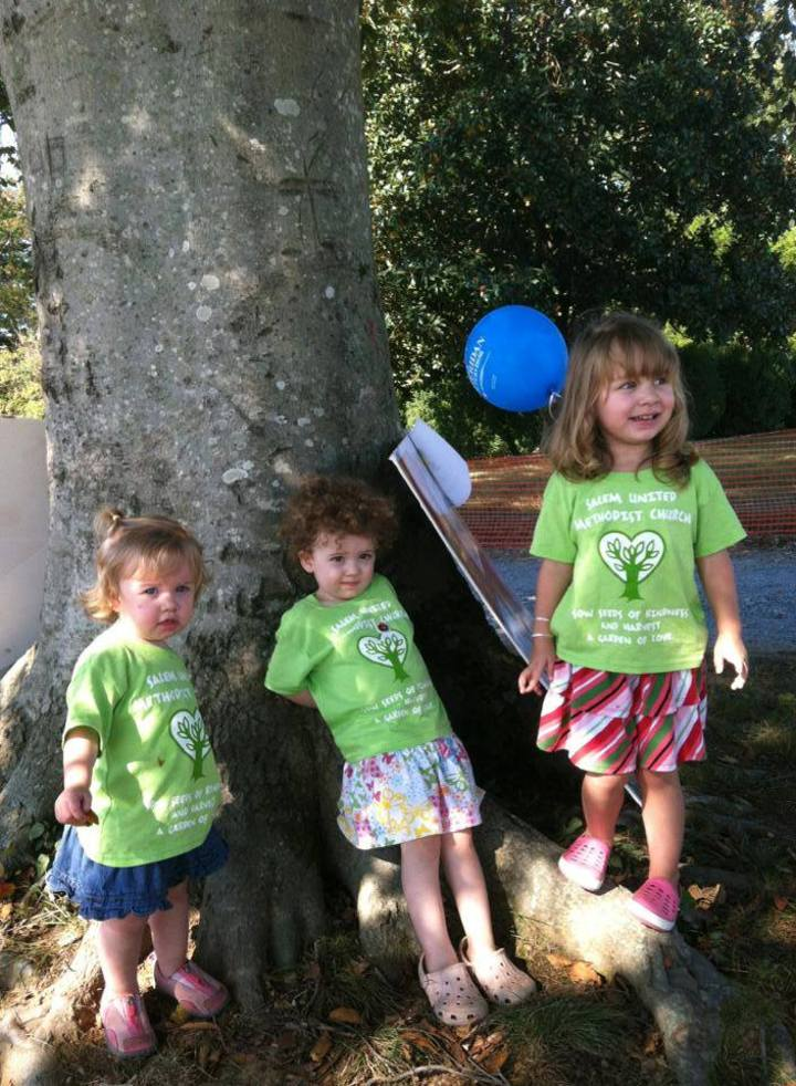 Some Of Our Youngest Church Members Enjoying Old Farm Day, In Style! T-Shirt Photo