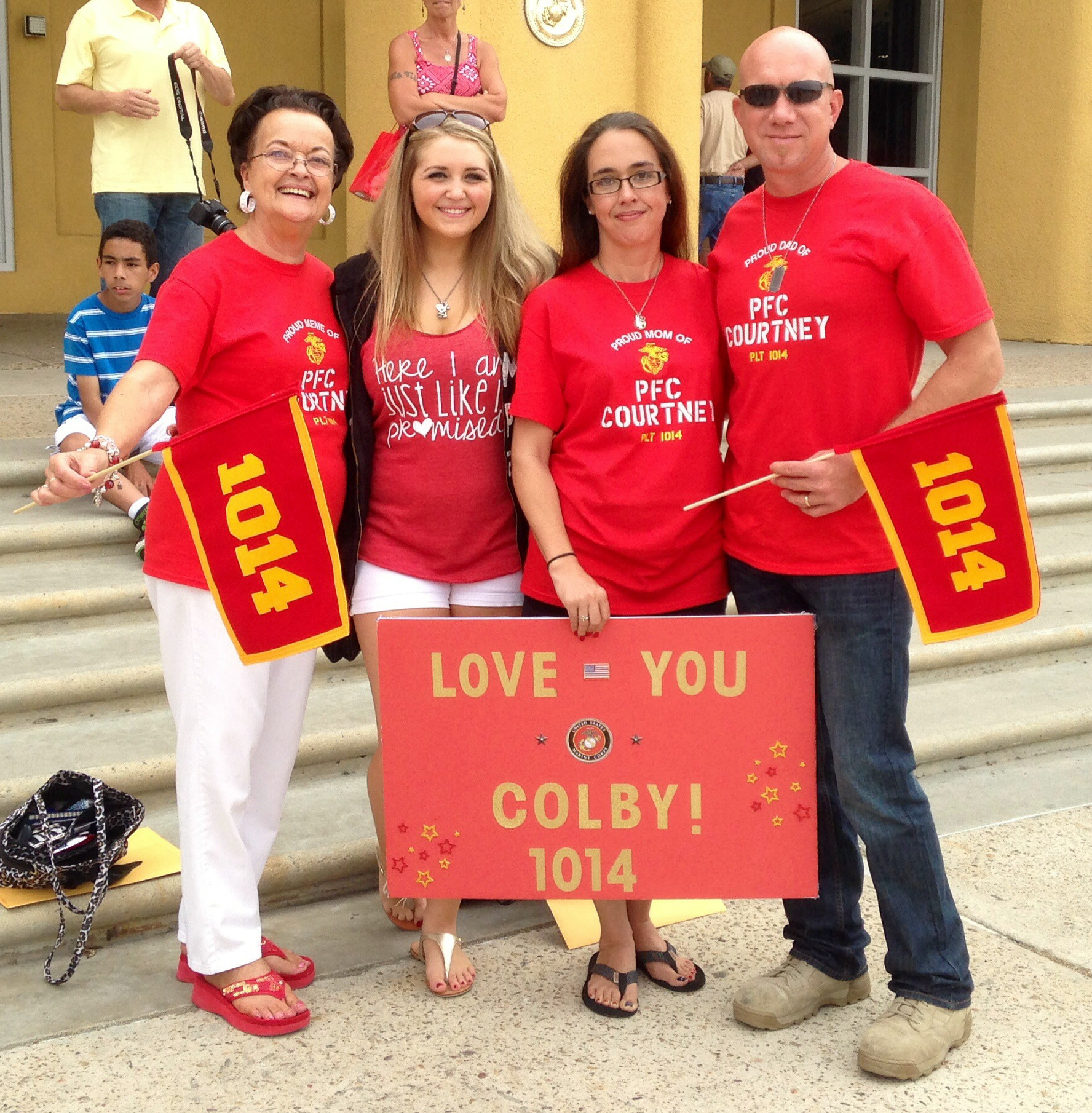 Proud Of Our Nurses And Their Family: Custom T-Shirts For Proud Marine Family!