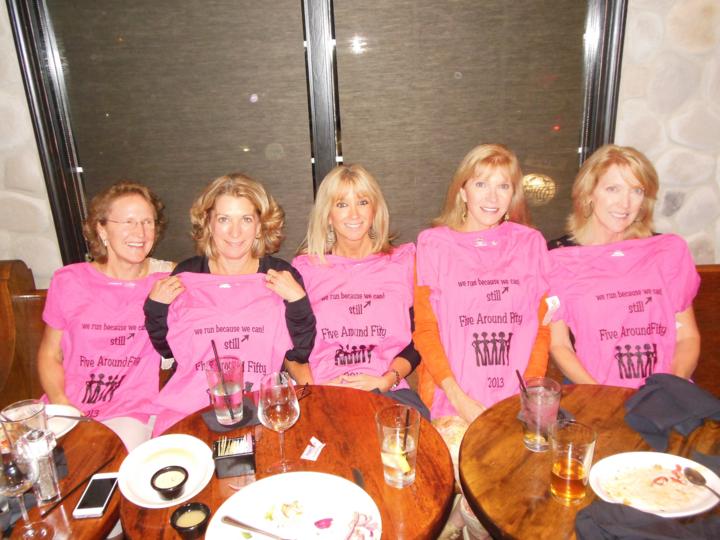 Five Around Fifty Still Running As On Marathon Relay Team  T-Shirt Photo