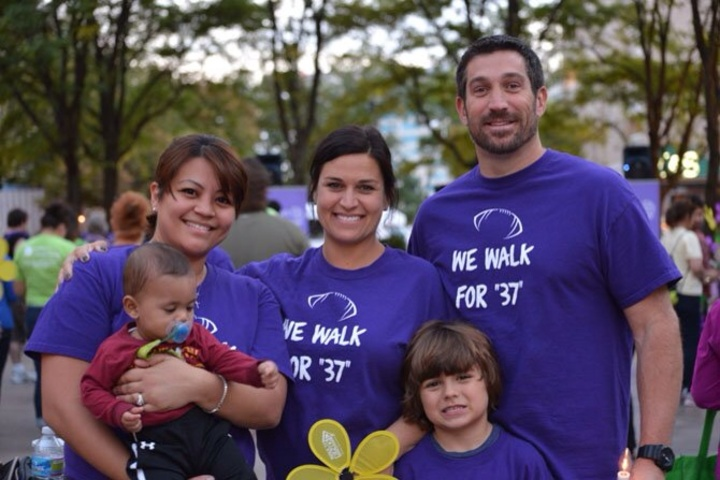 Alzheimer's Walk Team   We Walk For My Dad  A Former Nfl Player With Dementia T-Shirt Photo