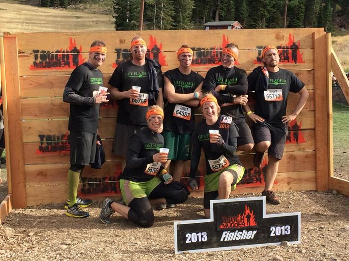 Filthy Flashers@ Tough Mudder T-Shirt Photo